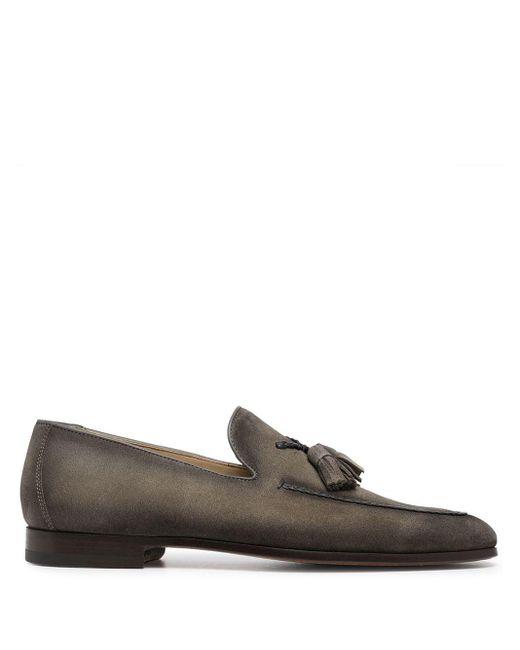 メンズ Magnanni Shoes タッセル ローファー Gray