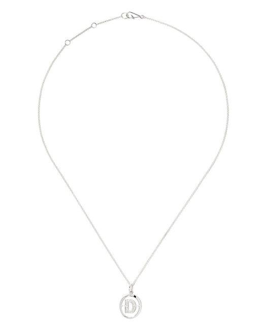 Annoushka ダイヤモンド D ネックレス 18kホワイトゴールド Metallic