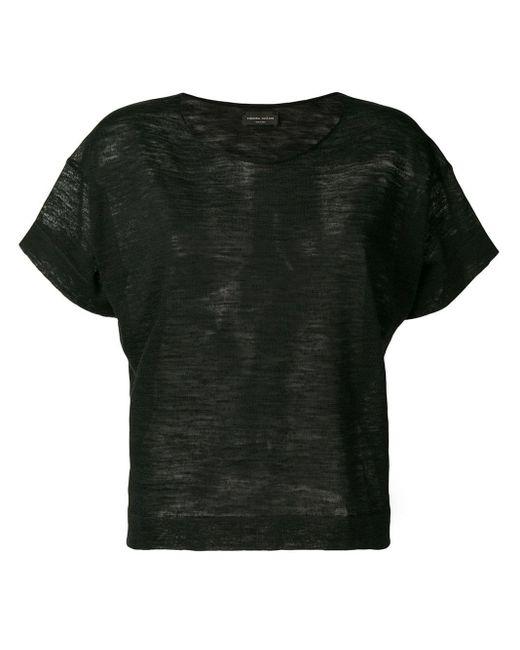 Roberto Collina スクープネック Tシャツ Black