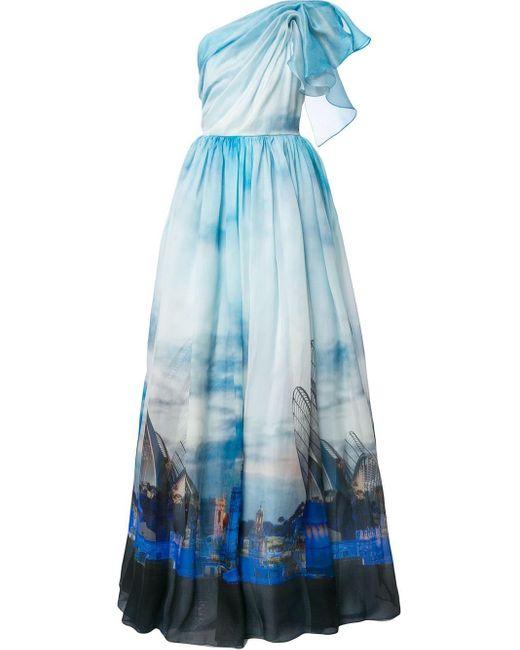 Вечернее Платье Valencia С Принтом Isabel Sanchis, цвет: Blue