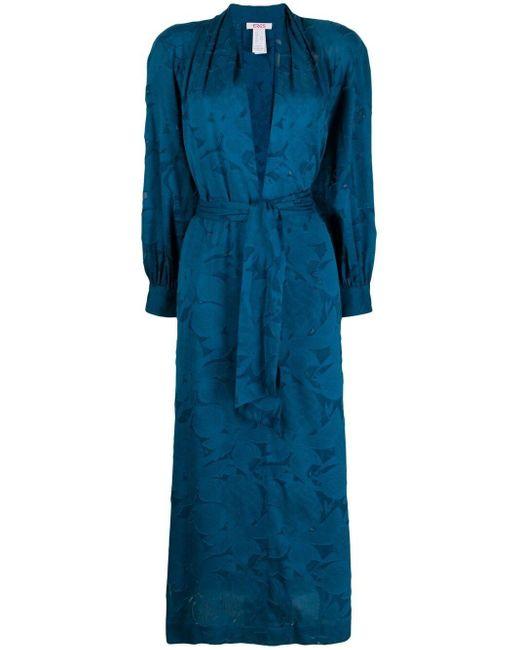 Eres Blue Lace Wrap Dress