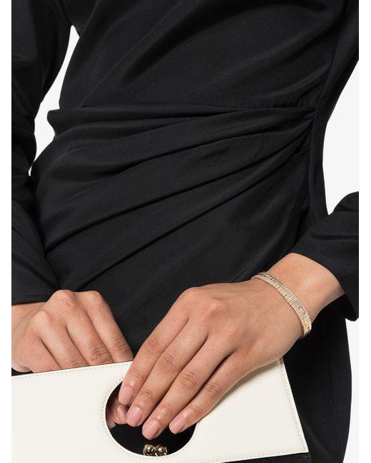 SHAY パヴェダイヤモンド ストレッチ ブレスレット 18kローズゴールド Multicolor
