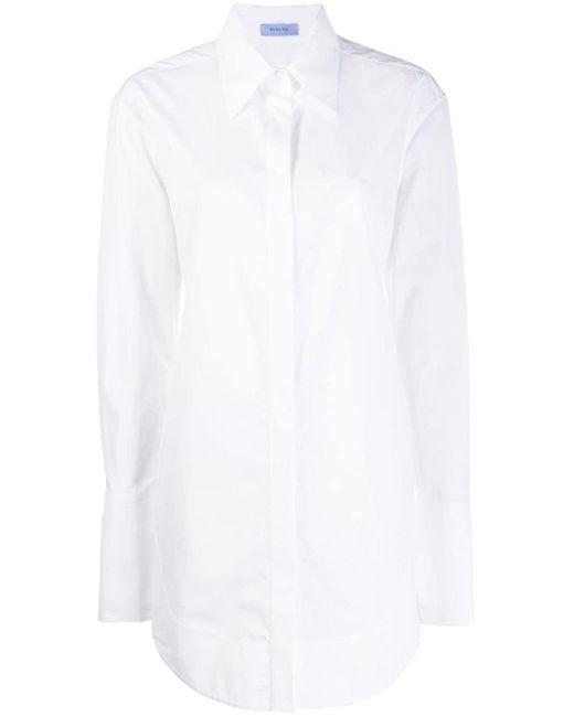 Mugler White Cummerbund Back Strap Shirt