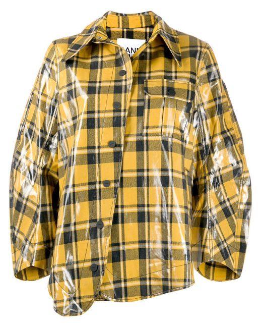 Ganni コーテッドコットンツイルジャケット Yellow