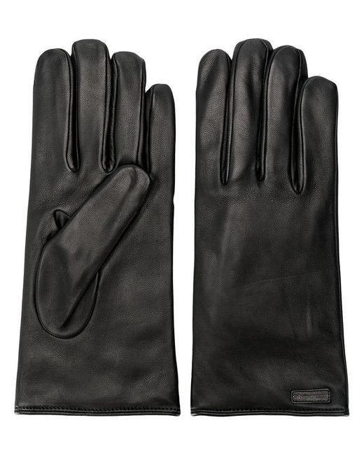Dolce & Gabbana - Black Handschuhe mit Logo for Men - Lyst