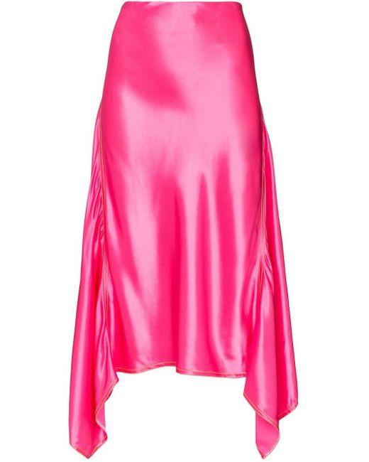 Sies Marjan ドレープ ミディスカート Pink
