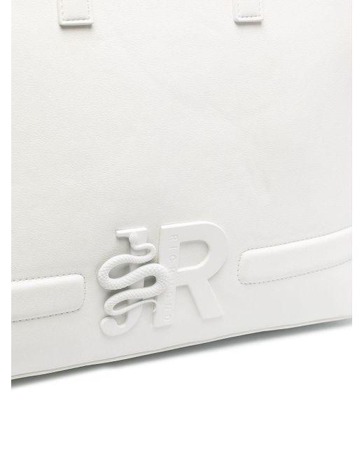 Borsa shopper Oremi con logo 3D di John Richmond in White