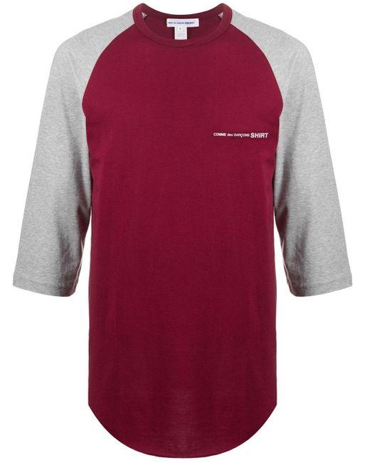 メンズ Comme des Garçons ロゴ ロングtシャツ Gray