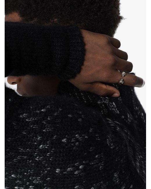 Кольцо С Декором В Виде Черепов Alexander McQueen для него, цвет: Metallic