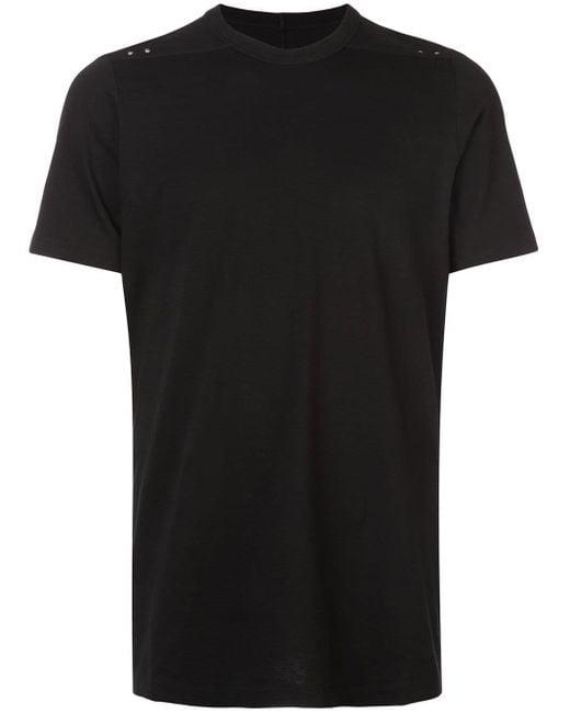 メンズ Rick Owens クルーネック Tシャツ Black