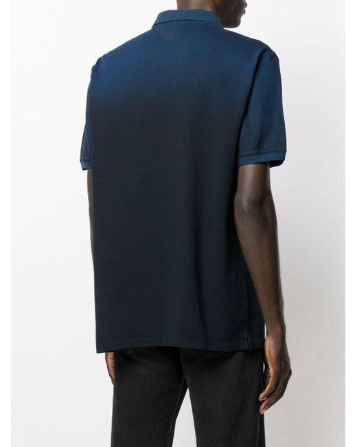 メンズ Golden Goose Deluxe Brand ロゴ ポロシャツ Blue