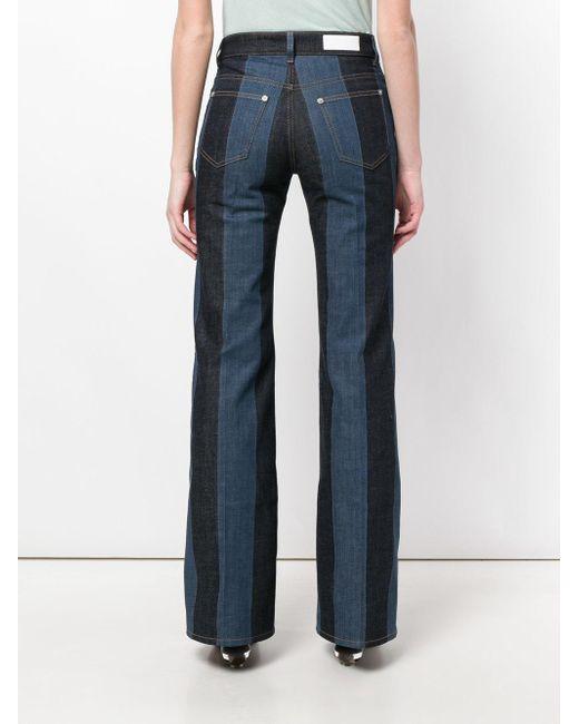 f8c409d6b9 Sonia Rykiel Striped Mid-rise Flared Jeans Dark Denim in Blue - Save ...