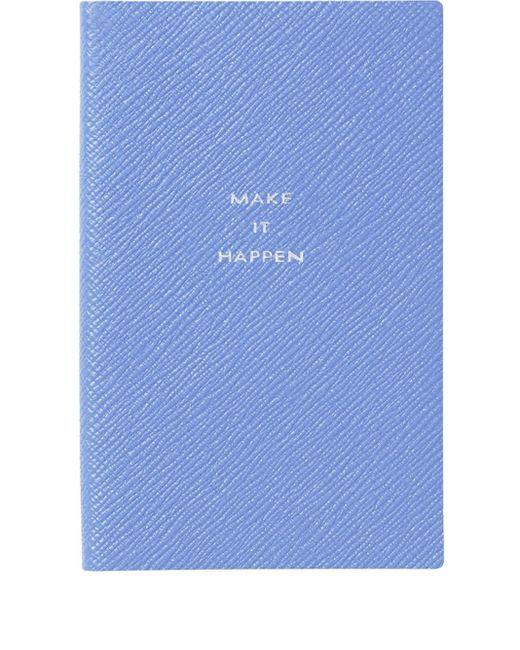 Quaderno Panama di Smythson in Blue