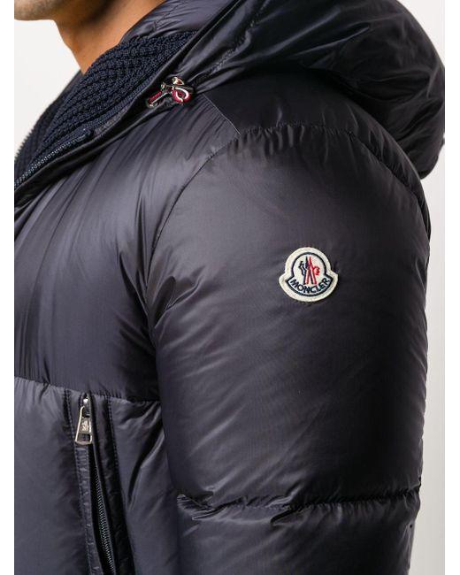 メンズ Moncler フーデッド パデッドジャケット Blue