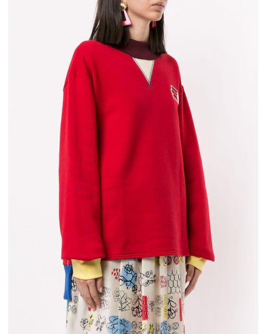 Marni カラーブロック スウェットシャツ Red