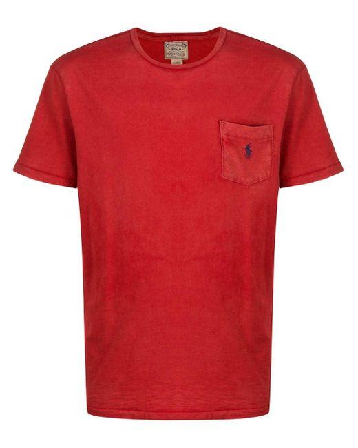 メンズ Polo Ralph Lauren ロゴ Tシャツ Red