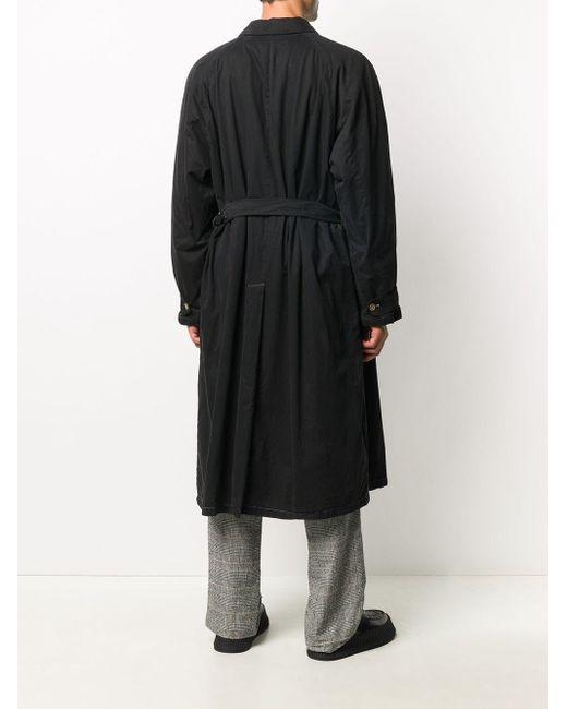 メンズ Giorgio Armani 1990s ベルテッド トレンチコート Black