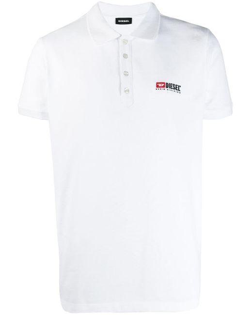 メンズ DIESEL T-weet-div ポロシャツ White
