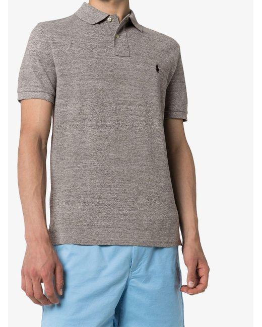 メンズ Polo Ralph Lauren ロゴエンブロイダリー ポロシャツ Gray