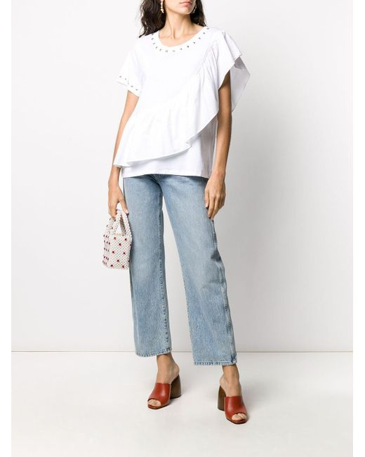 Twin Set ラッフルトリム Tシャツ White