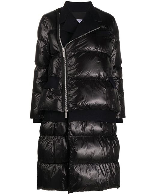 Sacai オーバーサイズ パデッドジャケット Black