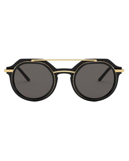 メンズ Dolce & Gabbana ラウンドフレーム サングラス Multicolor