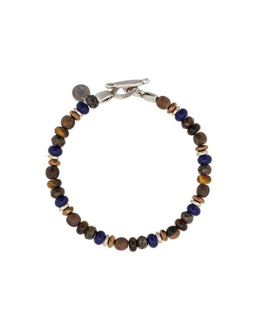 Bracelet à perles Eleventy pour homme en coloris Brown
