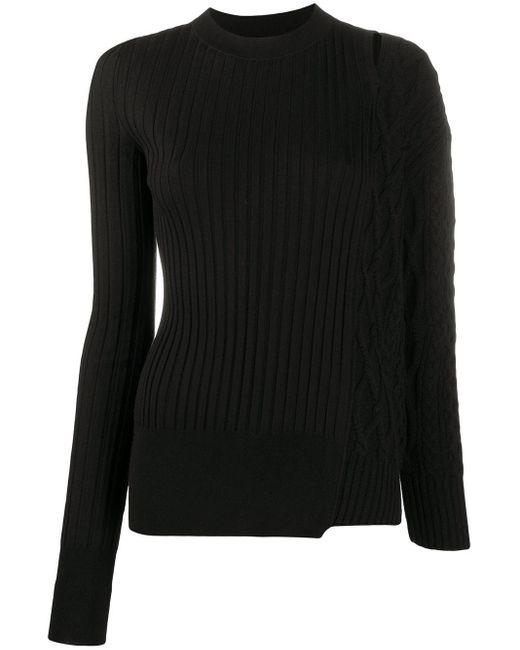 Maglione con design patchwork di Sacai in Black