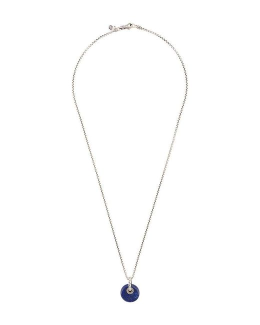 John Hardy - Metallic Silver Classic Chain Necklace With Lapis Lazuli Pendant for Men - Lyst