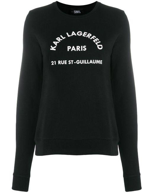 Karl Lagerfeld Address Logo パーカー Black