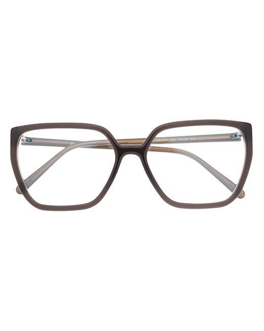Очки В Массивной Оправе Marni, цвет: Brown