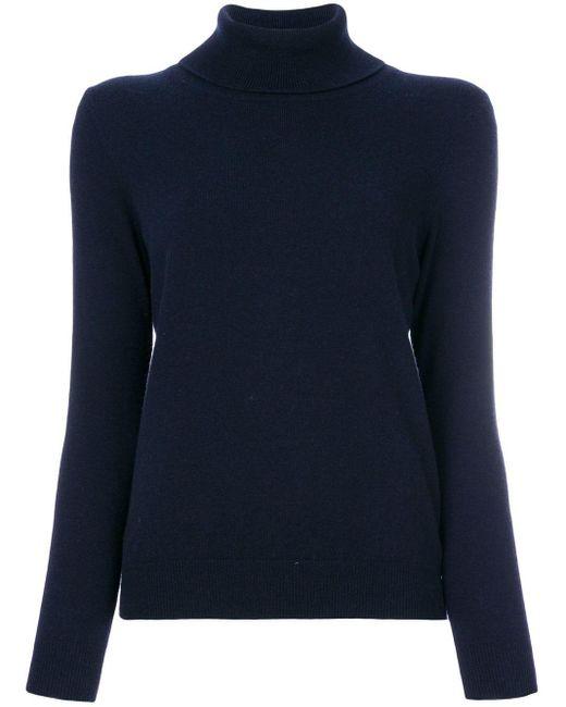 N.Peal Cashmere カシミア タートルネックセーター Blue