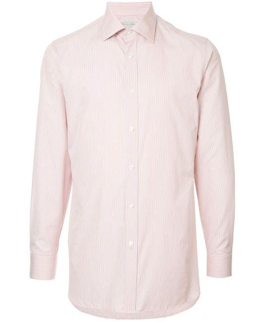 メンズ Gieves & Hawkes ストライプ シャツ Pink