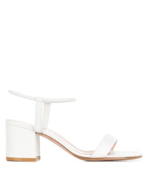 Gianvito Rossi White Sandalen mit Blockabsatz