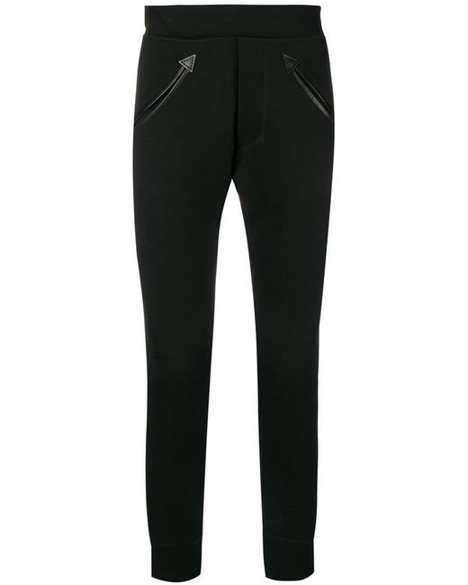 DSquared² - Black Pantalones joggers con bordado de rosa for Men - Lyst