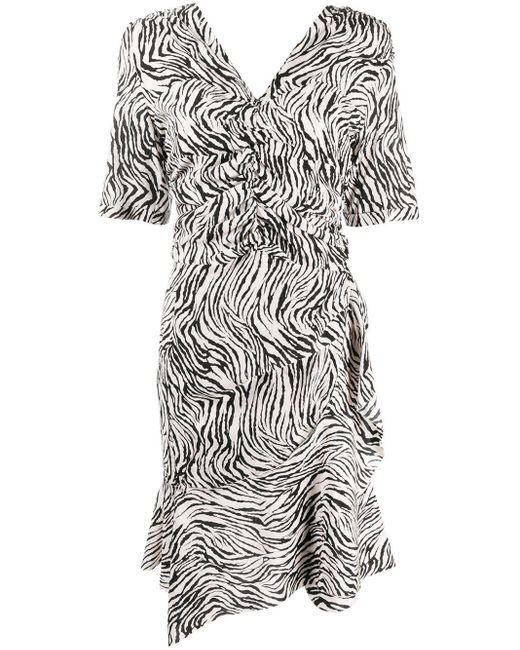 Isabel Marant ゼブラプリント ドレス Multicolor