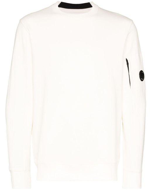 メンズ C P Company レンズ スウェットシャツ White