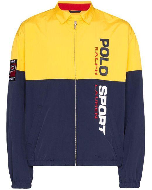 メンズ Polo Ralph Lauren カラーブロック ボンバージャケット Yellow