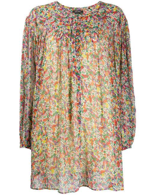 Isabel Marant Orion フローラル シルクドレス Multicolor