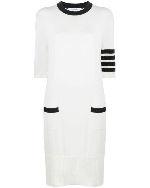 Thom Browne 4bar ストライプ ドレス White