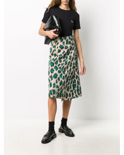 Maison Kitsuné ロゴパッチ Tシャツ Black