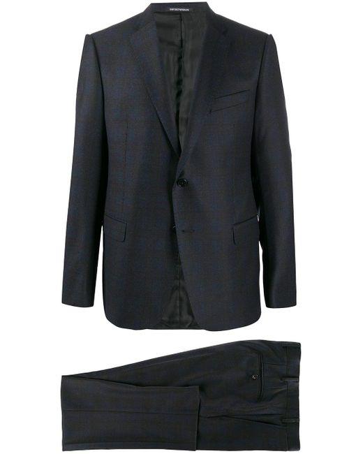 Костюм С Однобортным Пиджаком Emporio Armani для него, цвет: Blue