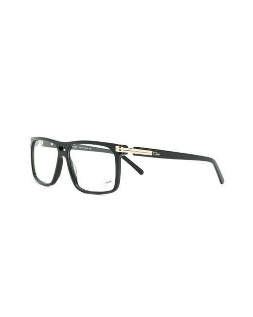 メンズ Cazal スクエア 眼鏡フレーム Black