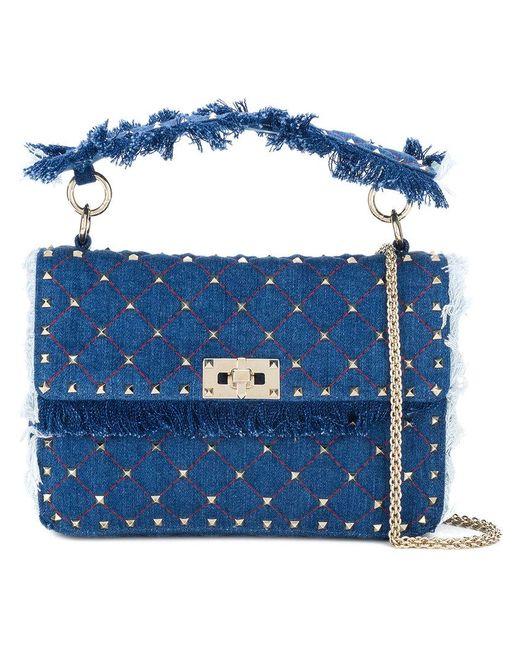 Valentino - Blue Rockstud Spike Chain Bag - Lyst