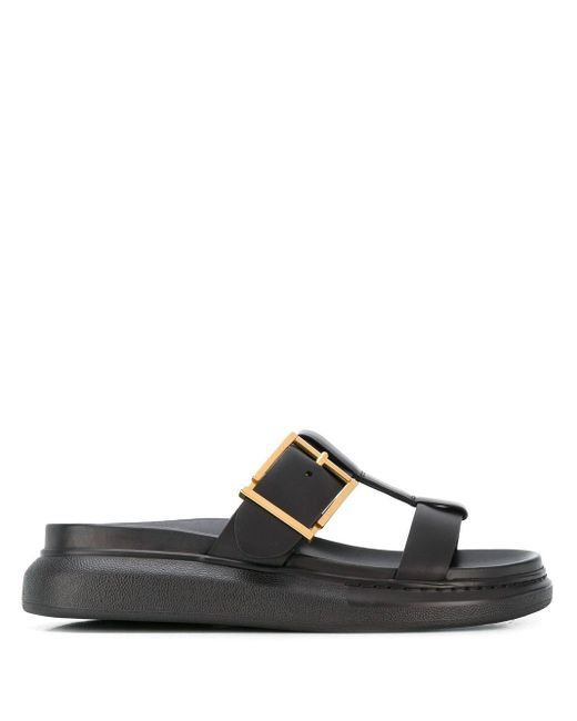 Slippers Hybrid Alexander McQueen en coloris Black