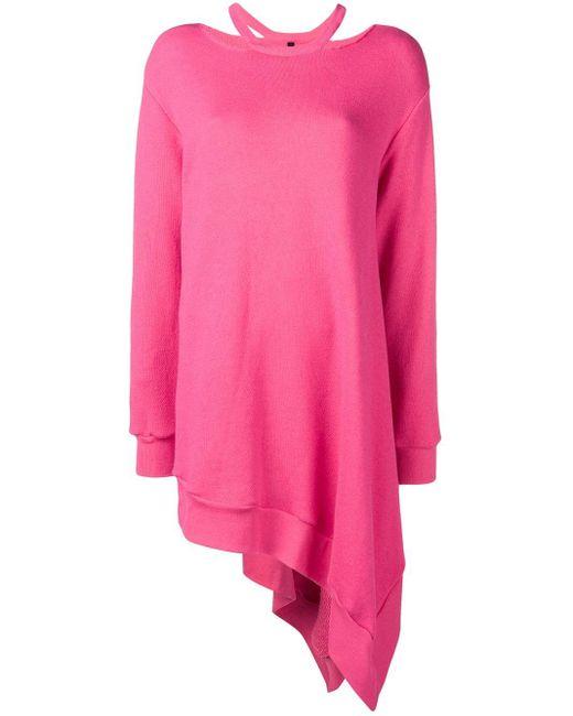 Unravel Project アシンメトリー スウェットシャツ Pink