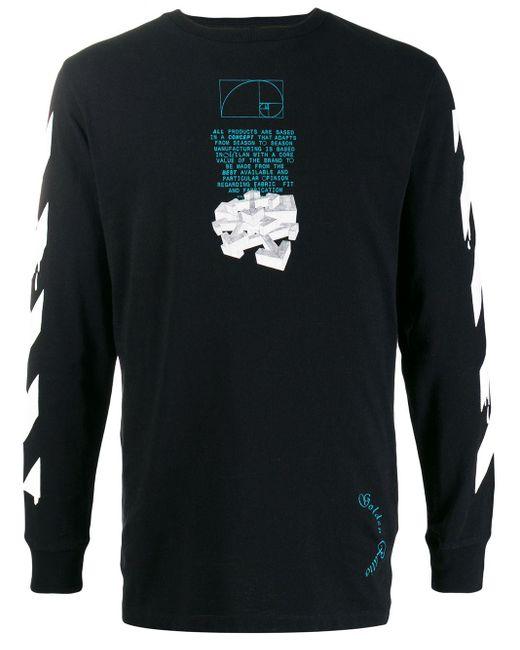 メンズ Off-White c/o Virgil Abloh Dripping Arrows ロングtシャツ Black