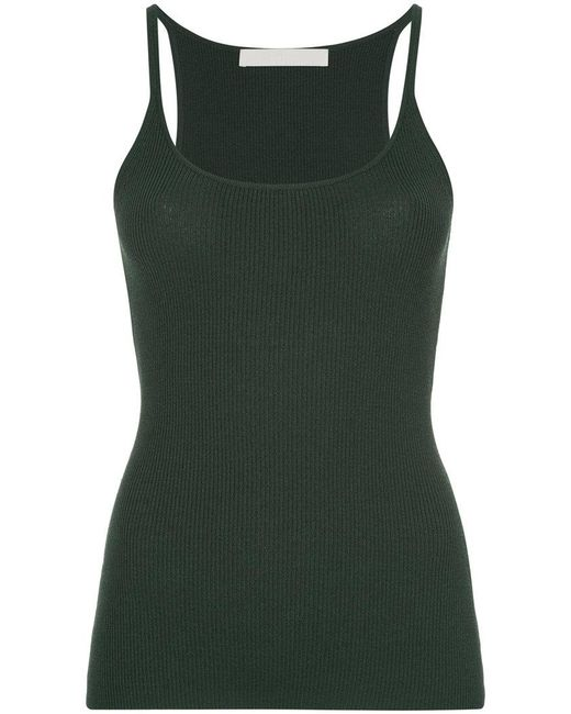 Dion Lee | Green Fitted Fine Knit Rib Tank | Lyst