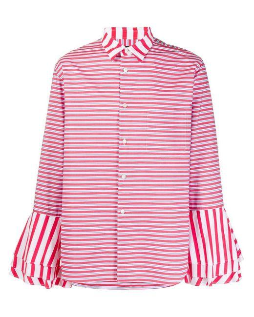 メンズ Comme des Garçons ストライプ シャツ Pink