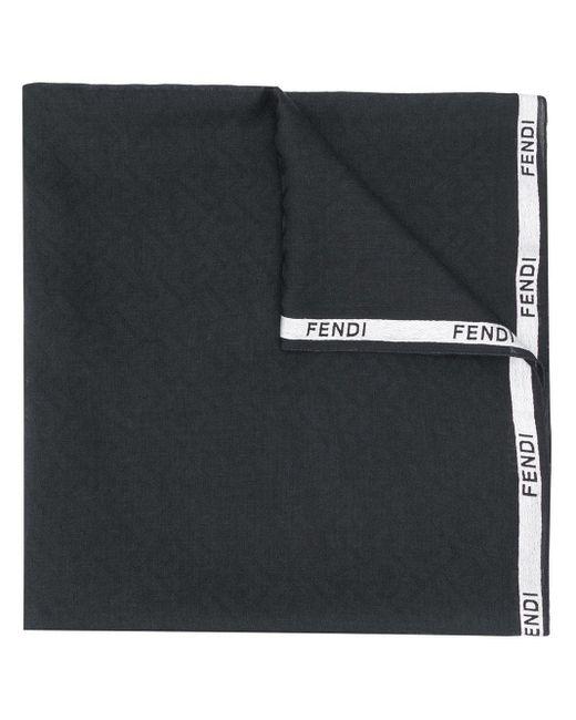 Шарф С Логотипом Fendi для него, цвет: Black
